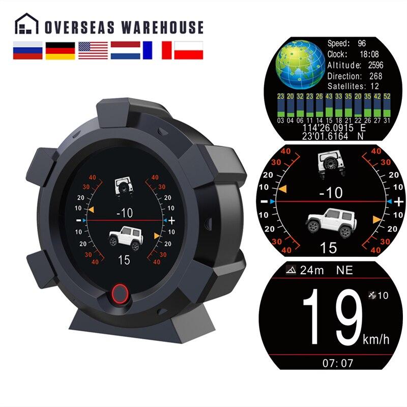 AUTOOL X95 GPS Horizontal Slope Meter Inclinometer Speedometer PMH KMH Car Compass Pitch Tilt Angle Altitude Latitude Longitude